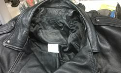 Heavy,100% Leather Mens XL Motorcycle Jacket. ( 44 to 48 ) The jacket was over $700 when purchased new. I had a leather belt and closure added along with some collar snaps .... see photo's ... . Jacket is As New email or call with your questions $175.00