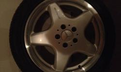 Set of Mercedes AMG Rims off a CLK 430k and Michelin Pilots 85% left on Tires   Fronts 2355017 Rears 2554517   Price $ 2000.00 or best offer...