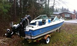For sale: A boat and motor. The boat has been a great family boat, but is being sold to make room for a new addition. The boat floats but could use some TLC. I just had the motor into a shop and was told it`s in great shape - I personally haven`t used the