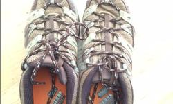 Brown and green women hiking shoes size 6.5 (EUR 37). Mint condition.