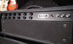 Mesa f 100 head with new pre-amp tubes  800 Mesa  2x12 rectifier cab                             500 Mesa 4x12 bass cab                                    850   for sale or trade.   take the whole package for 2000 or trade for an intresting Gibson guitar