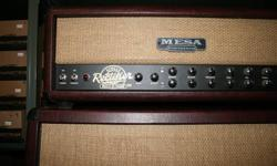 I am selling my amazing amplifier because I just got a new amp, so won't need this one anymore. The Mesa/Boogie 50 Watt Rectoverb is an absolute monster. Included with the head and 4X12 cabinet is a foot-switch for dual channel selection, reverb and solo