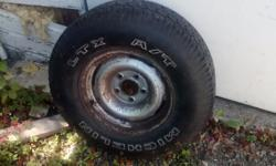 Have a tire and rim off an early 1990's GMC. Don't have a truck anymore. lots of tread! $25.00 OBO Text @ (250)686-2417. If I don't answer, I'm driving. I'll get right back to you. Thanks, Steve.