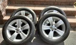 Michelin Defender All Season Tires(4) with Aluminum Rims for a 2010 Dodge Caliber for sale. 215/60R17 - fits many other Dodge models Purchased June 2015 - approx 3,000 KM on the tires. Excellent condition. Neither Rims or Tires have ever been driven