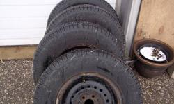 SET OF 4 - 205 70 14  MICHELIN HARMONY TIRES  90 % TREAD LEFT ON THEM   $150 FIRM