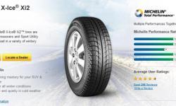 Michelin Latitude X-Ice Xi2 Winter Tires with Winter Rims (2015 Honda Pilot) These tires have 95% tread life on them as they were only used for 3 months this winter and currently using my all seasons. This tire and rim combo at Ottawa Honda is retailed at