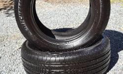 Pair of Michelin PRIMACY MXV4 Tires. Excellent used condition with a lot of tread life remaining. Garage stored. Size P215/60 R16 94H