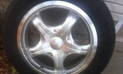 These rims were on my old car that I do not have, they don't fit on my new car. The tread on the tires is about 80 % 215 55 16 Bolt pattern is 10 hole. Two 5 hole patterns 5x100, 5x114.3 www.rimhelp.com If the ad is up, i still have the rims and tires !