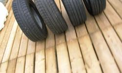 size of tires are 215-60R16. For sale is 4 of them. These are the best rated tires for ice, and rain... Sold the car for a Pick-up Tires have 10/32 tread left. So that translates to about 95% tread left ... The new price for these tires was over 900.00