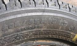 I have for sale 4 Michelin X-ICE 205/55 R16 tires that are in good shape.  They were on a Toyota Matrix, and I am selling them as we no longer have the car.