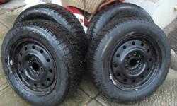 Hi Have a set of 4 Michelin X-Ice snow tires P 205/65 R 15Near mint, only used one winter. Also available, steel rims, 5 bolt Ford pattern (Taurus or Sable) $300 Firm (with or without rims) While we appreciate everyone's interest, please don't ask if the
