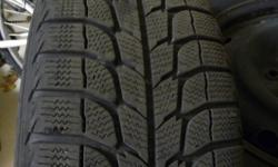 Four (4) Michelin X-ICE  215/65  R16 tires AND rims. Use for 3 seasons on a 2001 Grand Caravan Sport.