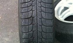 4 185/65/15 Michelin x-ice 50% tread and on aluminum rims Came off a Nissan Versa Please call or email This ad was posted with the Kijiji Classifieds app.