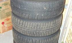 Michelin X Ice Snow tires and Rims to fit a Pontiac Pursuit or Chev Cobalt. Size: 195/60 R15 May fit other vehicles. 4 bolt hole pattern. Used 3 seasons.  Lots of tread and in excellent shape. Reason for selling: Sold my car and tires won't fit new