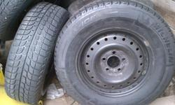 90-95% tread left on 5 bolt rim that may fit your car if not ensures there are no leaks or issues with tires these are excellent not even a seasons use priced low to sell this eason