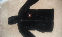Adult Medium. Hardly ever worn, like new. Fuzzy Black Fall/Winter Jacket