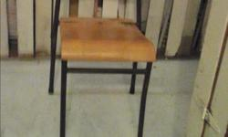 Hi for sale are 20 mid century modern stackable wood and metal chairs. These are great for meetings , groups, or simply buy a couple and use them for Dinning Room Table chairs or buy just one and use it for a great industrial mid century modern office