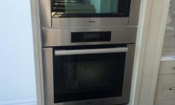 First come, first serve; will not hold. MUST BE GONE BY FRIDAY. Never used - in perfect condition. Selling all three as a set. Brand: Miele (top of the line) Combined retail price over US$7000 Specifications: Household microwave/ convection oven (top