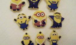 Set of 9 Minions shoe charms for Crocs or as magnets Great for parties, favors, cupcake toppers & more! Set of 6 $5, see second photo