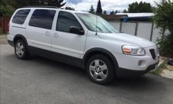 Make Pontiac Model Montana SV6 Year 2008 Colour White with black trim kms 153200 Trans Automatic Seats 7,back seat folds down for more storage. Needs shocks. Runs very well. I only used it around town. Second owner and I knew the first owner and it has