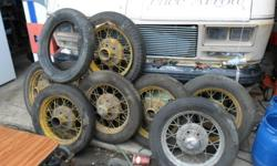 Model A rims with rubber, I have 8 rims and one spare tire, $800.00 or best offer call 905-380-7097 niagara falls