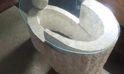 Used mostly for staging purposes: Stone marble glass coffee table $150 3 seater - $100 2 seater - $100 All - $300 Pick up only