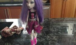 This doll is good condition lights up and comes with stand