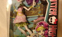BRAND NEW, still in sealed box, never displayed or removed from box, Monster High Ghoul Sports Spectra Vondergeist Doll. GREAT FOR COLLECTORS! Spectra Vondergeist doll also comes with a brush, tennis bag, racket and tennis ball, doll stand and diary. Ages