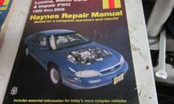 Repair manual for Lumina or Monte Carlo 95 to 2005