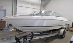 absolutelly flawless 20 footer,wide beam extremely high quality boat similar to chaparral and sea ray. powerful 4.3 L mercruiser with low hours, kept indoors and never abused,no scratches or dings. $1200.extra for the trailer call 519-755-0400.