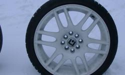selling 4 rims and tires 17 205/ 40/ z 17inch the tires are no good but they still hold air i bought them a year ago for 450 now selling for 200 firm or trade they are 4 bolt universal i had them on my 96 hyundai accent and i blew the motor then had them