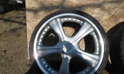 "Set of 4 18"" motegi racing rims.with all center caps  In decent shape two bolt patterns 4x100 and 4x114.7 rims need tires.have 215/ 35s 18"" on them now was Asking $325 now $280 or best cash offer can deliver email or txt me at 1705 957-4994 thanks if add"