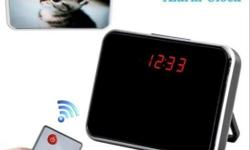 Motion Detect Hidden LED Mirror Clock Camera Camcorder Mini DVR Multi-function Electronic Clock DVR Spy Camera. This clock DVR has high definition and exquisite design. It is actually a high quality mini motion detecting video recorder, pocket DVR with