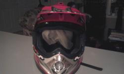 I have a moto Cross Helmit for sale. It is brand new, It is to small for me. I paid $65.00 for it and will take $30.00.