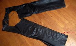 I am selling just in time for that last Christmas gift a pair of Screamin Eagle chaps. The sise is XXL. They are new,unhemmed and will make your bike faster. I am selling them as I sold my bike and rasing money for my classic car.   Please call me for