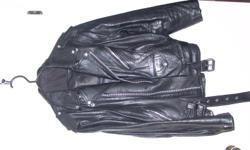 I have a used Men's Leather Motorcycle Jacket (lined) as well as a set of chaps.  I will sell them separately.  $75.00 each Jacket is size:  Lg - XLg Chaps:  Lg