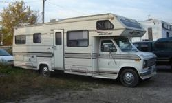 1989 FORD FLEETWOOD HOLIDAIRE CLASS C MOTORHOME (27 ft).   Clean & well maintained, sleeps 6. Captain's chairs in seating area.  Propane heat, fridge and cooking stove. Newer cooking stove & electric A.C. 3 pc bath includes shower and tub,  $6500.
