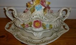 MOVING SALE - ROCK BOTTOM PRICES - EVERYTHING MUST GO! PLEASE CLICK ON MY OTHER ADS If the ad is still posted, the item is still available for purchase Please note this item is located in WOLFVILLE B4P 2S1 Elegant 3 piece soup tureen with china roses