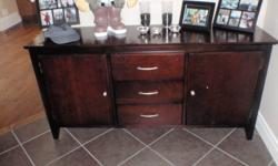 I have recently moved into my new place and am wanting to get rid of some furniture/electronics so I can purchase something else. I have: A chocolate brown wood hutch, great condition -$375.00 8 piece dining set. 6 chairs, 1 table, 1 leaf. Has minor