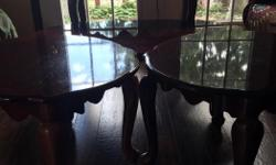 4 Living Room Tables Cherry Colour Excellent Condition Call or Txt