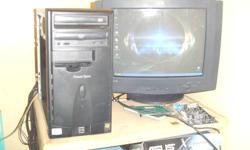 Fast starter or Kids Computer   Hardware MSI MS-6738 Motherboard Athlon  XP 2400+ 2.0 GHZ Internet Ready 6 USB 2.0   4 in back  2 in Front 120 gig Wd  IDE HD    CD Burner DVD Rom 1 Gig DDR  Ram-2 slots 2 gigs max Onboard Realtek Sound 128 Mb GeForce