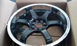 Rims are MSR six spokes 7.5 inches wide. They were the only 18inch rims I could find that weren't too wide to fit my Hyundai Accent. The rubber on two is very good and the other two are slightly worn. The tires are Nankang Ultra Sport NS-ii P215/35ZR18 In