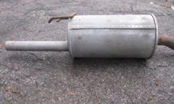 Gently used muffler for compact car.   Good condition.