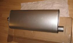 One new still in box Walker quiet flow muffler. This is a stainless steel muffler which lasts 3 times as long as a regular muffler. Direct fit for 2005-2010 Jeep Grand Cherokee and Commander 2006-2010. You can also use it on other cars. For measurements