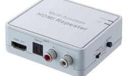 This Multifunction HDMI Repeater with audio extraction has many features that enable it to perform in a superior manner. Among those features you will find: 1 - Compliant with V1.3HDMI,HDCP1.2 and DVI1.0 2 - Support HDMI samples rates up to 192 KHz 3 -