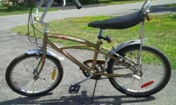 Mustang Banana Seat Boys Bike High handle bars
