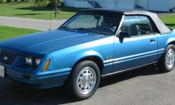 1983 Mustang Convertible 5.0 liter, 5 Speed This restored car has some rear floor/frame rust issues. I have a complete rust free rear frame panel that will fix it. This is a project car that I can't put any more money into. I have had this car for 15
