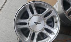 Mustang Wheels. Aluminum 5 bolt rims $125.00