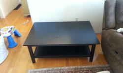 We bought this coffee table less than a year ago but we just moved and it no longer fits in our living room. We bought it from Ikea its a Hemnes model here is a link to their site http://www.ikea.com/ca/en/catalog/products/80176284/ It has a few light