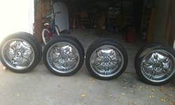 Hi everyone, I have four set of tires 215/55/17 for $150 for all four. they are winter tire with lots of threads left for your money. I also have a 20'' rims with tires on them for $450. I bought it for my car but they doesnt fit. 5*115 call or text